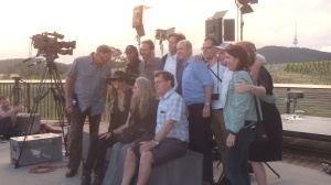The Cast and Crew get together for one final photo shoot at the end of the interviews and final show.